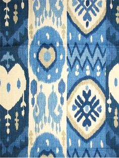 """Kachina Skorpios:Richloom Platinum Fabric. Ikat tribal stripe printed on soft 55% Linen, 45% Rayon. Great for drapery panels or light use upholstery. 12.25V x 13.5H up the roll repeat. 54"""" wide."""