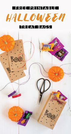 Sometimes the simplest party favors are the best—especially when they're filled with Halloween candy from Kroger—like Snickers, M&M's, Twix, and Skittles! Check out this easy DIY for Halloween Treat Bags and their free printable to make these goodie bags for your party guests. There's simply nothing scary about a fun and quick seasonal craft project that boasts your favorite sweets!