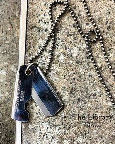 #CCP @ #TheLibrary1994 #Carol Christian Poell #Silver #Portable #Blade #Chain. #Artisinal #Wearable-Art #CarolChristianPoell @ The Library 1994 #Kensington #London Getting Old, Dog Tag Necklace, Leather Boots, Artisan, Kensington London, Christian, Chain, Wearable Art, Blade