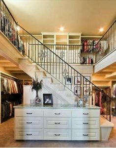 Two Story Closet, Great Idea!