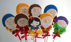 Snow white sugar cookies / Biscoitos decorados de Branca de Neve