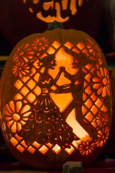 gorgeous pumpkins at dia de los muertos denverbotanicgardens diadelosmuertos - Halloween Dia