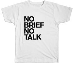 NO BRIEF NO TALK by Lim Edition on The Bazaar