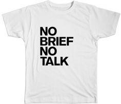 NO BRIEF NO TALK by Lim Edition on The Bazaar