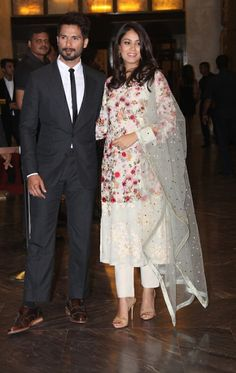 #PreityZinta wedding reception#So perfect couple Mira&Shahid#made for each other#can't take my eyes off them
