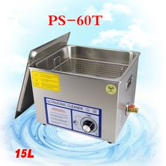 1PC PS-60T 15L Ultrasonic Cleaner for motherboard/circuit board/electronic parts/PBC plate ultrasonic cleaning machine #Affiliate