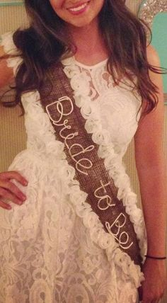 Handmade Bachelorette Party Sash by LuckeyCharms on Etsy Perfect for a laid back casual BA party in MAUI!