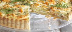 Μια νόστιμη συνταγή για να φτιάξετε ΤΑΡΤΑ ΣΟΛΩΜΟΥ ΑΛΜΥΡΗ ΚΑΙ ΓΡΗΓΟΡΗ ΑΠΟ ΤΟ ΣΕΦ ΣΤΟΝ ΑΕΡΑ, μόνο στην Nostimada.gr Dill Potatoes, Sliced Potatoes, Dill Salmon, Smoked Salmon, Shortcrust Pastry, Bbc Good Food Recipes, Tart Recipes, Calorie Diet