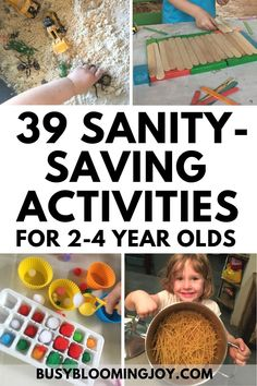 39 simple & sanity-saving activities for toddlers & preschoolers for at home