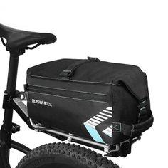 ROSWHEEL 6L Bicycle Bag Rear Rack Trunk Bag Waterprrof Bike Package Pannier With Shoulder Strap Bag