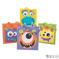 Large Monster Face Tote Bags(pack of Monster Box, Monster Face, Monster Party, Monster Munch, Monster 1st Birthdays, Monster Birthday Parties, Birthday Party Themes, Birthday Bash, Halloween Goodie Bags