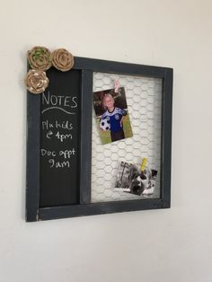 Chalkboard/Chicken Wire Frame Combo by GingerBlondeBoutique