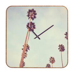 Catherine McDonald Streets Of Los Angeles Custom Clock | DENY Designs Home Accessories