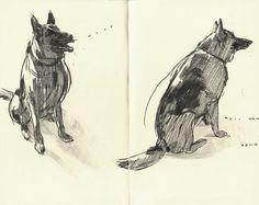 Francis Vallejo  illustrator (Austin, Tx.; USA) Sketchbook drauwings