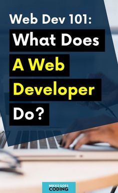 Are you wondering what web developers do exactly? If you are new to web development and coding, check out this article to learn all the basics you need to know! Find out what front end and back end developer do, what tools and programming languages they use, and how they build their projects step by step. Learn what skills you need to start a web developer career and find the best online courses to get started! #webdeveloper #webdevelopment #coding #programming #tech #learntocode #mikkegoes Computer Technology, Computer Programming, Programming Languages, Computer Science, Coding Websites, Coding Courses, Learning Web, Learning Resources, Coding For Beginners