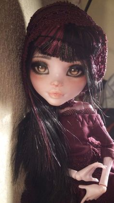 New OOAK Draculaura Monster High Custom Repaint Doll by Astral | eBay
