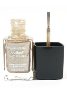 Covergirl Golden Opportunity Outlast Stay Brilliant nail gloss is a beautiful sparkling gold nail polish.