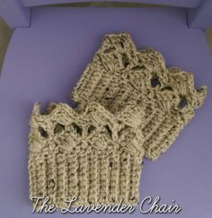 Textured Fan Boot Cuffs free crochet pattern - The Lavender Chair