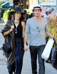 Ian Somerhalder and Nikki Reed Bump Into Famous Pals During an NYC Stroll: Ian Somerhalder and Nikki Reed walked hand in hand around NYC on Monday.