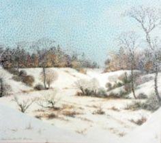 Vinterlandskap von Albert Drachkovitch