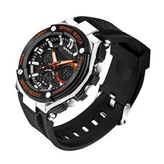Wrisky Mens Stainless Steel LED Digital Date Alarm Waterproof Sport Quartz Watch *** Be sure to check out this awesome product.Note:It is affiliate link to Amazon.