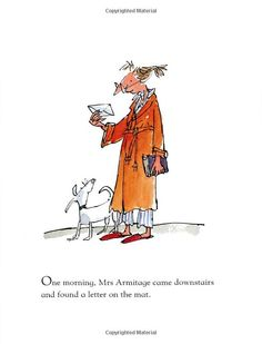 Mrs Armitage Queen Of The Road - Quentin Blake Vintage Illustration Art, People Illustration, Children's Book Illustration, Character Illustration, Watercolor Illustration, Book Illustrations, Chris Riddell, Quentin Blake Illustrations, Drawing Projects