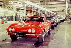 1965 Corvettes roll down the assembly line