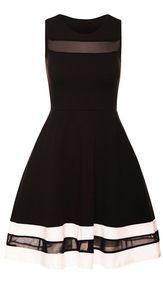 Paris Black & White Skater Dress | Needthatdress.com