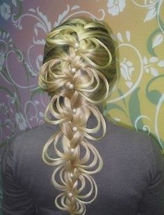 Hair:  Intricate #braid with loops.