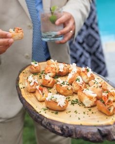 Coastal locale cocktail hour foods of mini lobster rolls, tuna tartare, crab cakes, and shucked oysters. Source by Catering Food, Wedding Catering, Catering Recipes, Catering Events, Party Catering, Catering Ideas, Mini Crab Cakes, Gourmet Breakfast, Holiday Appetizers