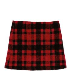 Buffalo Plaid Bouclé Skirt ❤ liked on Polyvore featuring skirts, plaid, knee length a line skirt, textured skirt, red print skirt, a line patterned skirt and boucle skirt