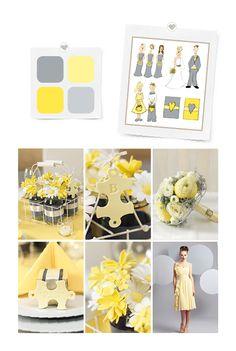 Konzept Gelb/Grau