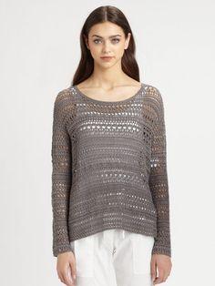 Amena Crochet Sweater - Lyst
