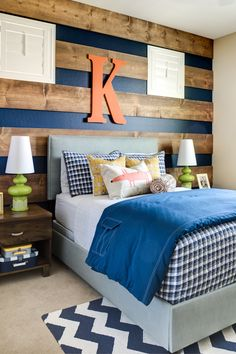 Boys room (maybe for Joshua's fishing theme and still carry over some of his chevron from the nursery?)