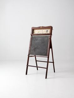 1920s easel, Lithoplate Better Than Slate Education Board, chalkboard & art desk by 86home on Etsy https://www.etsy.com/listing/210884704/1920s-easel-lithoplate-better-than-slate
