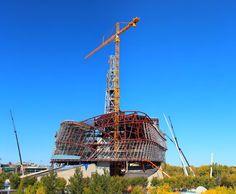 """Under Construction by *Joe-Lynn-Design """"Museum for Human Rights, Winnipeg, MB Design Museum, Under Construction, Human Rights, Worlds Largest, Statue Of Liberty, Fine Art Prints, Fair Grounds, Deviantart, Gallery"""