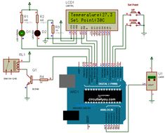 Digital Temperature Controller using arduino, here we are using arduino as main controller, this temperature controller controls the temperature of any heating… Arduino Lcd, Arduino Programming, Arduino Circuit, Diy Electronics, Electronics Projects, Spy Video Camera, Arduino Controller, Electrician Gifts, Simple Arduino Projects