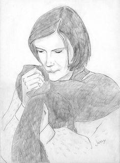 Renato Zero disegno a matita di Signori Gessica