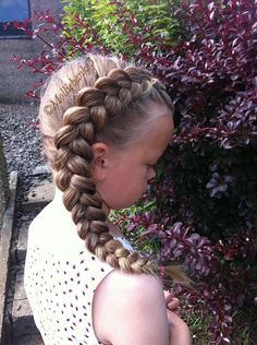Side pancaked dutchbraid by molliebanks5