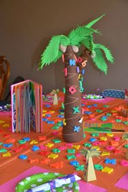 #uniquebirthday Chicka Chicka Boom Boom birthday decor  Www.rpsdesigns.blogspot.com
