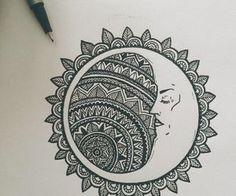 Imagen de moon, drawing, and art