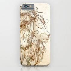 Poetic Lion  iPhone & iPod Case by LouJah. Worldwide shipping available at Society6.com. Just one of millions of high quality products available.
