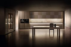 Refined and minimal Checkers kitchen from Armani & Dada