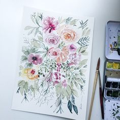 Trina Esquivelzeta (@trinaesquivelzeta) • Instagram photos and videos Watercolor Food, Watercolor Pictures, Watercolor Design, Watercolor Flowers, Watercolor Paintings, Christmas Poster, Christmas Art, Wedding Flowers, Clip Art