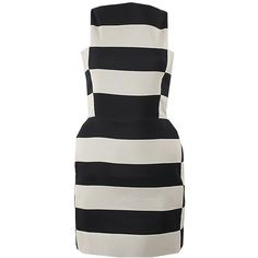 Lanvin Sleeveless Stripe Dress ($3,730) ❤ liked on Polyvore