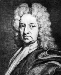 """Edmund Halley (Londres, Inglaterra, 1656,1742). Atrónomo inglés. Fue el primero en catalogar las estrellas del cielo austral, en su obra """"Catalogus stellarum australium"""". En 1682 observó y calculó la órbita del cometa que lleva su nombre, y anunció su regreso para finales de 1758. En una de sus obras más importantes """"Synopsis austronomiae cometicae"""" (1705), aplicó las leyes del movimiento de Newton a todos los datos disponibles sobre los cometas."""