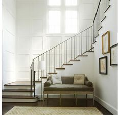 What a stunning pared back hallway - its simple lines and restrained palette are deceptively glamorous and hugely elegant (design by Bellacasa Design)