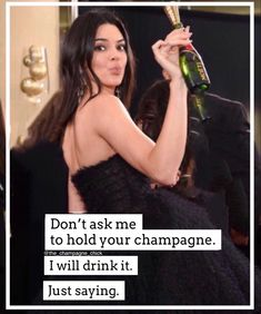 #champagnequote Champagne Quotes, Hold On, Sayings, Drinks, Drinking, Beverages, Naruto Sad, Word Of Wisdom, Drink