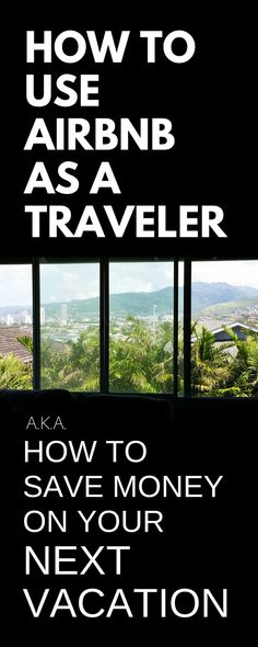 How to save money on vacation trip.
