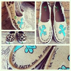 Meet Virginia Arts on Facebook. #leopardshoes #cross #turquoisecross